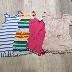 Bundle of 4 Gap dresses and rompers 4t